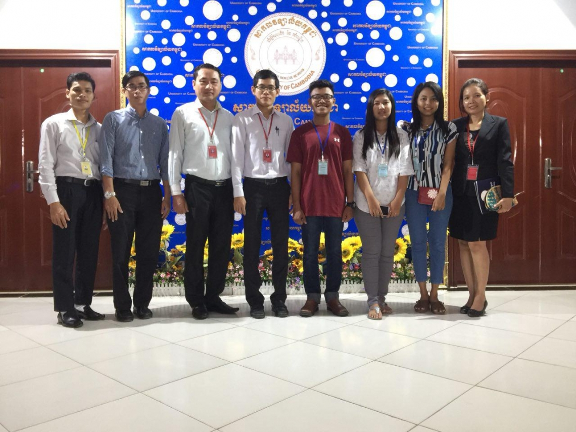 Myanmar students pass EU-SHARE scholarship to study at The University of Cambodia.